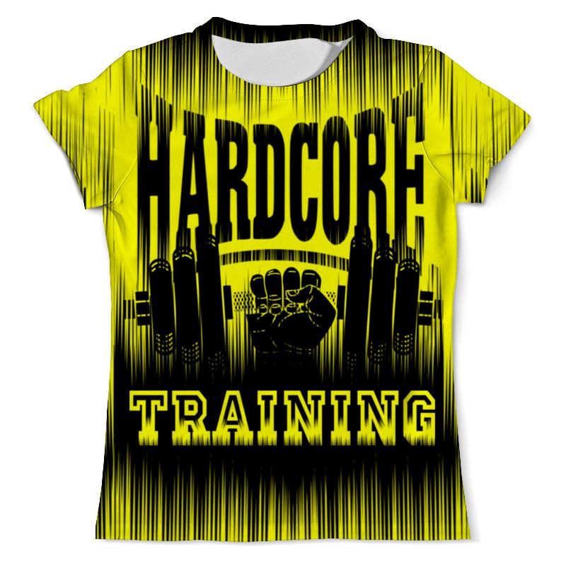 Футболка с полной запечаткой (мужская) Printio Hardcore training!!! свитшот hardcore training hardcore training ha020emtsf36