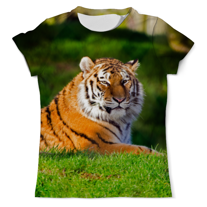 Printio Красивый тигр футболка с полной запечаткой мужская printio тигр 3d
