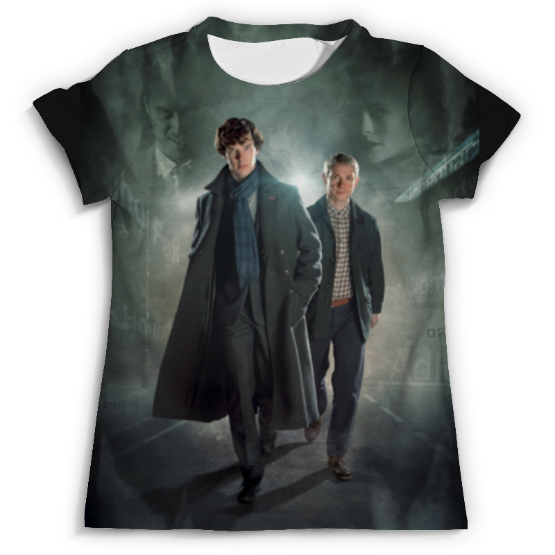 Футболка с полной запечаткой (мужская) Printio Sherlock holmes футболка с полной запечаткой для мальчиков printio шерлок холмс sherlock holmes