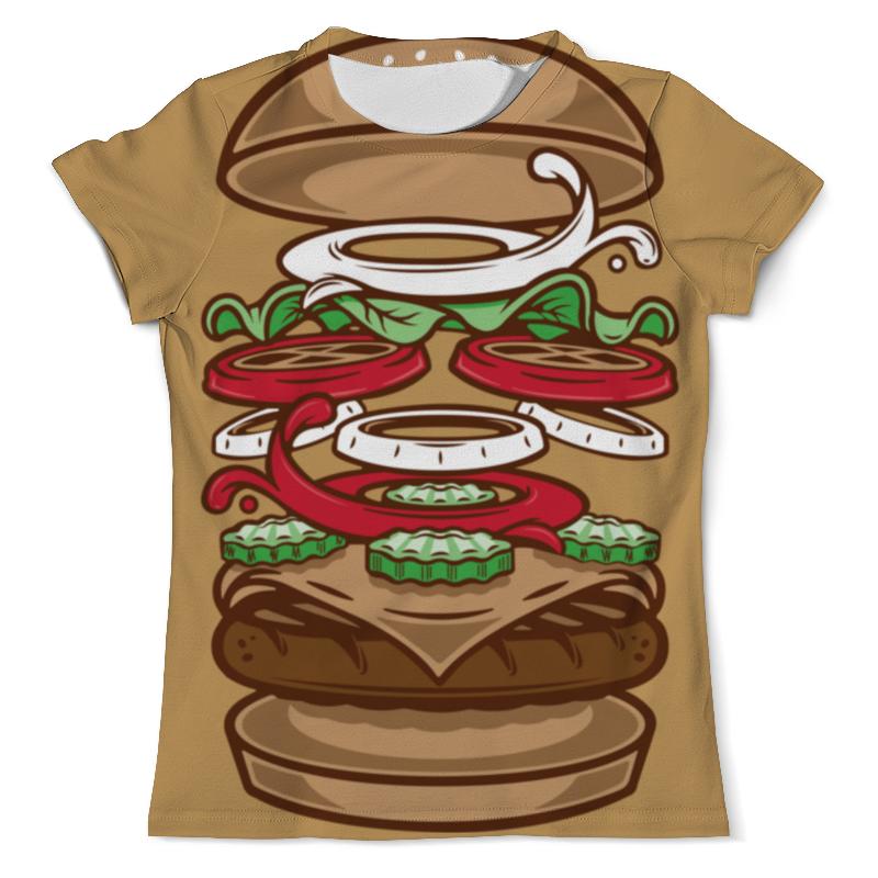 Printio Burger/бургер футболка с полной запечаткой мужская printio big belly burger