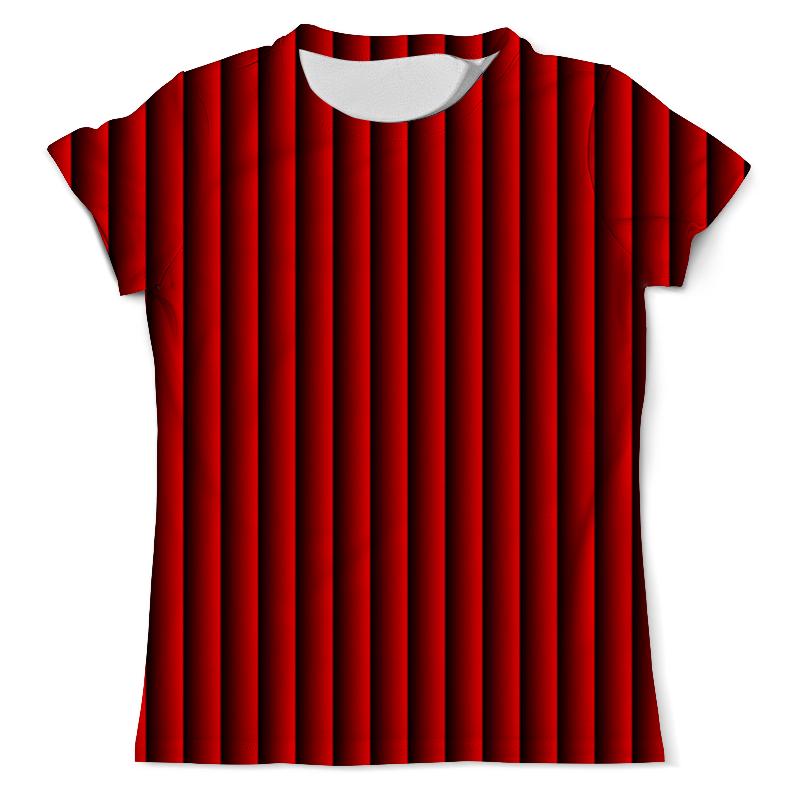 Футболка с полной запечаткой (мужская) Printio Красные полосы футболка с полной запечаткой мужская printio красные краски