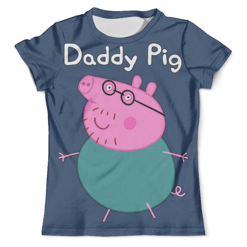 Футболка с полной запечаткой (мужская) Printio Daddy pig футболка pig basic slimfit brown