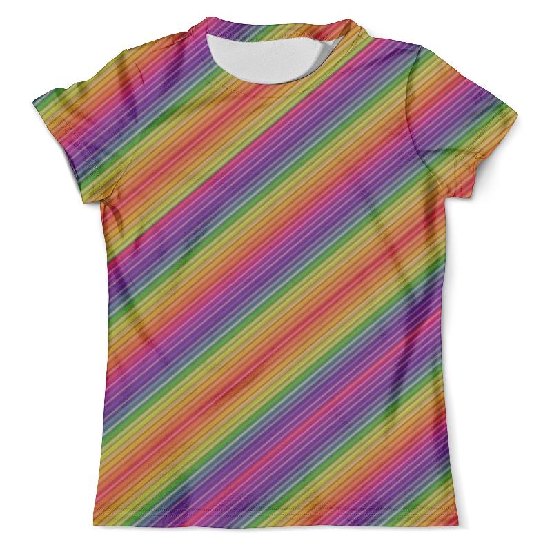 Футболка с полной запечаткой (мужская) Printio Линии радуги футболка с полной запечаткой мужская printio яркие линии