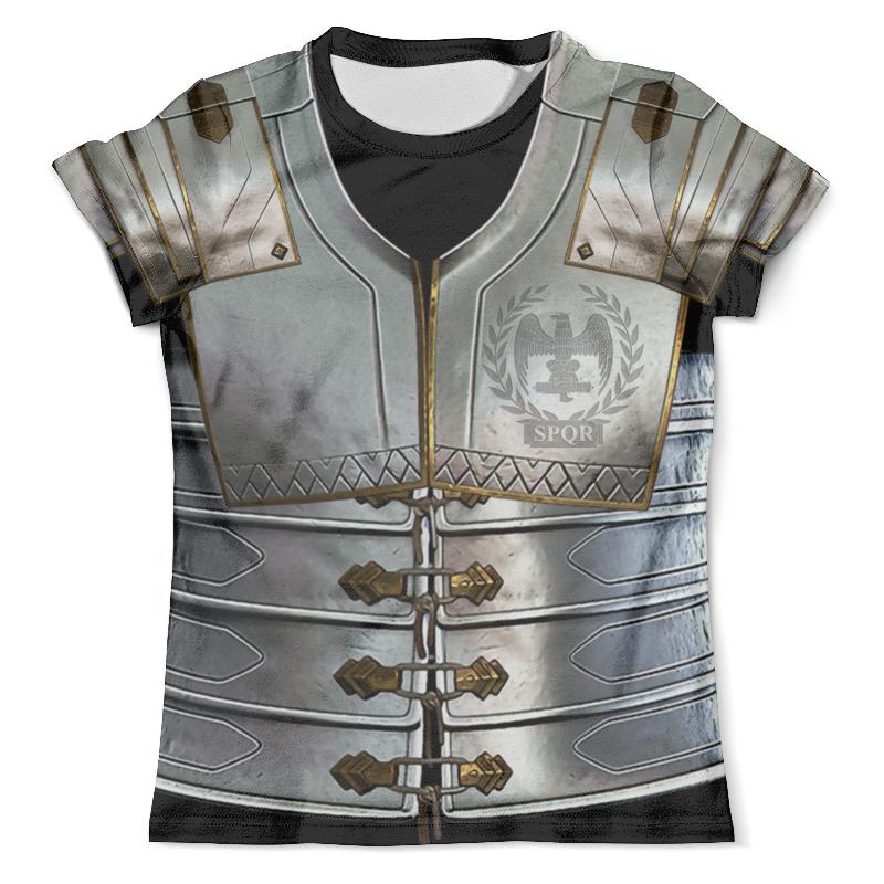 Футболка с полной запечаткой (мужская) Printio Roman legionary (black) футболка с полной запечаткой мужская printio roman legionary white