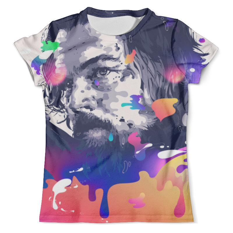 Футболка с полной запечаткой (мужская) Printio Леонардо ди каприо | выживший футболка с полной запечаткой для мальчиков printio леонардо ди каприо