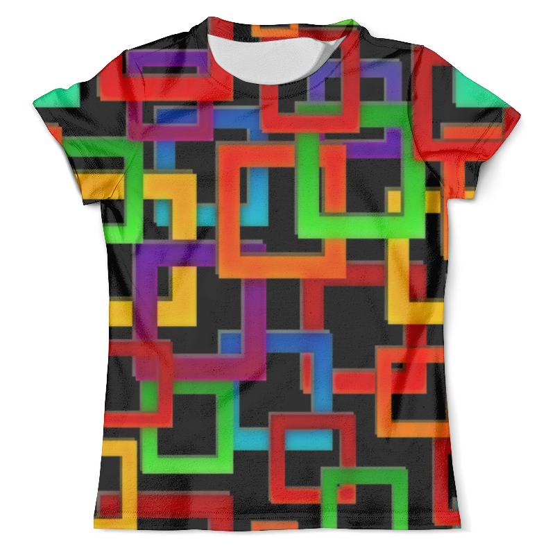 все цены на Футболка с полной запечаткой (мужская) Printio Цветные квадраты онлайн