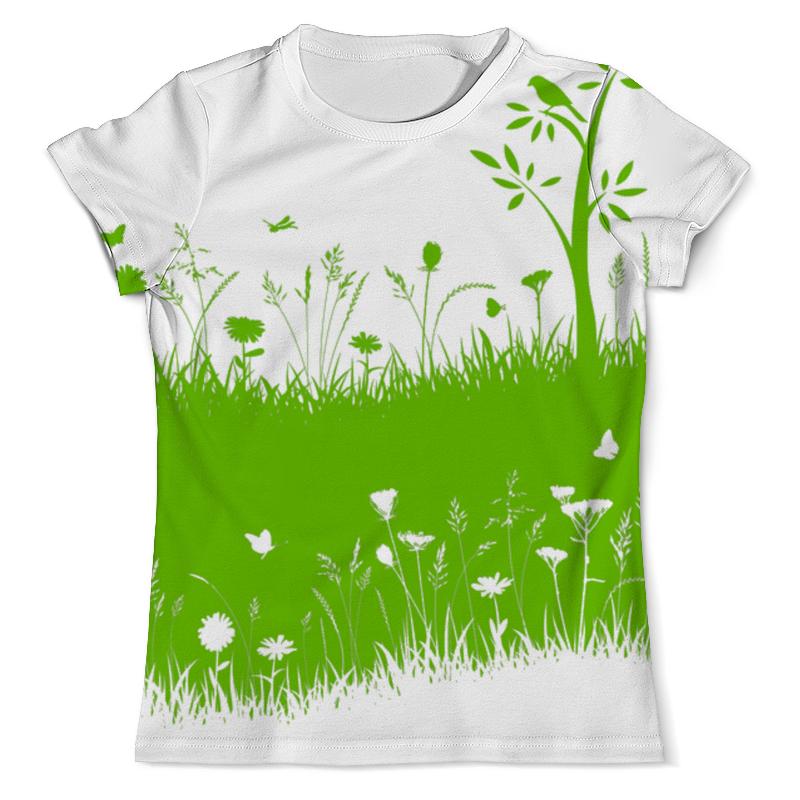 Футболка с полной запечаткой (мужская) Printio Летняя трава биолит трава ромашки 100 г