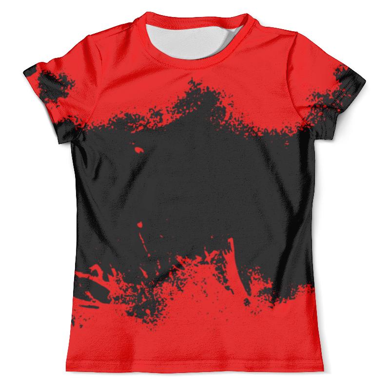 Футболка с полной запечаткой (мужская) Printio Черно-красные краски цена