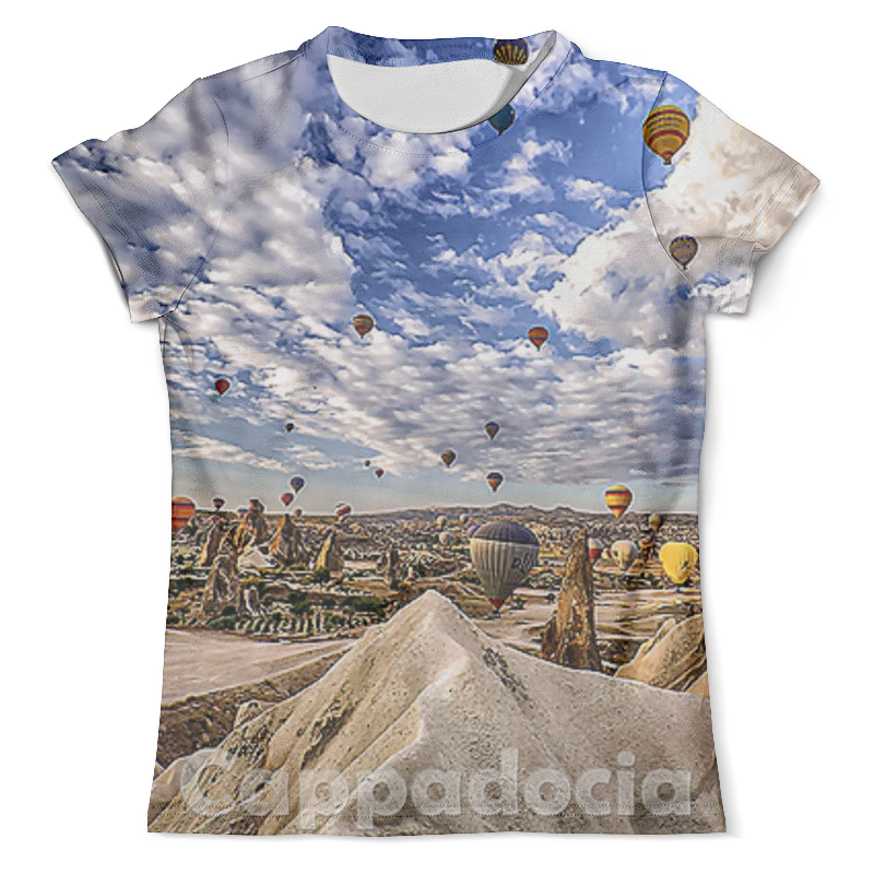Футболка с полной запечаткой (мужская) Printio Cappadocia hot air balloon festival allenjoy backdrops for photo thin vinyl paris tower hot air balloon bike background photography photocall camera
