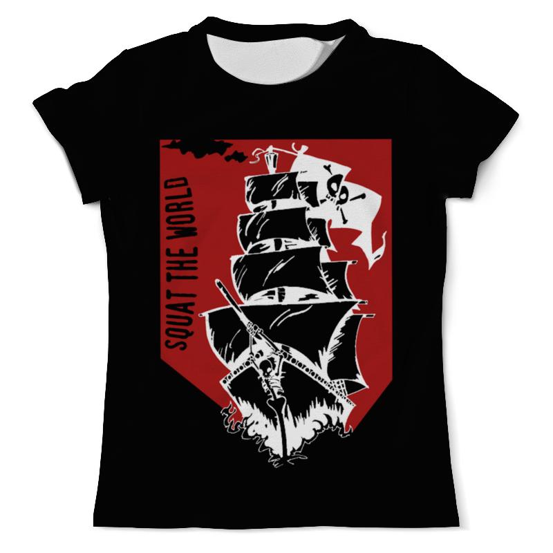 Футболка с полной запечаткой (мужская) Printio Пиратский корабль александра треффер под пиратским флагом фантазии натему произведений р сабатини