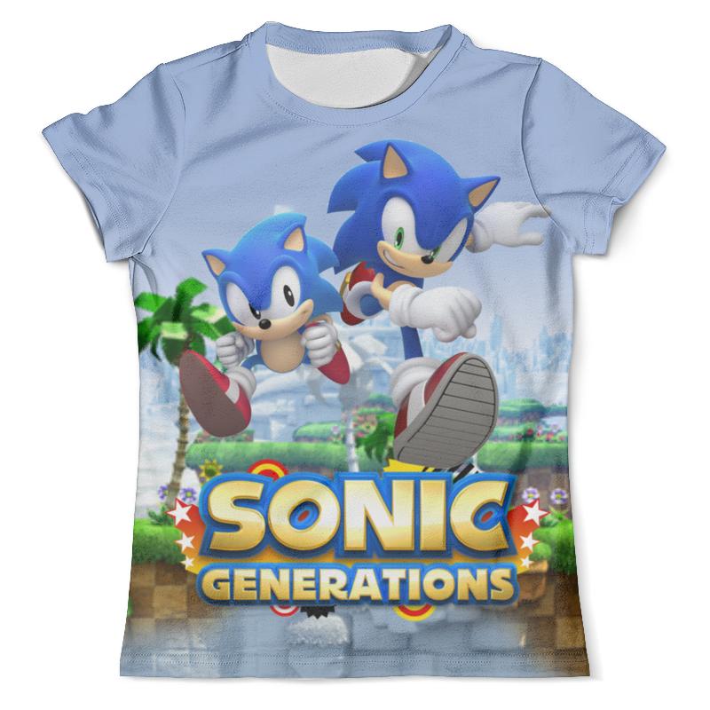 Футболка с полной запечаткой (мужская) Printio Sonic generations green hill zone футболка print bar sega sonic
