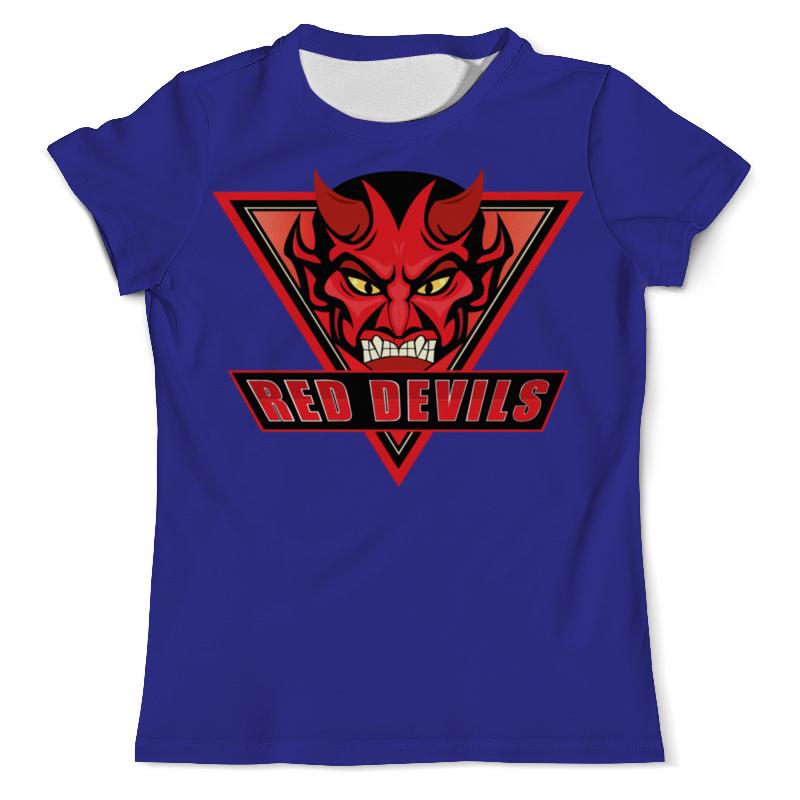 Футболка с полной запечаткой (мужская) Printio Red devils цена