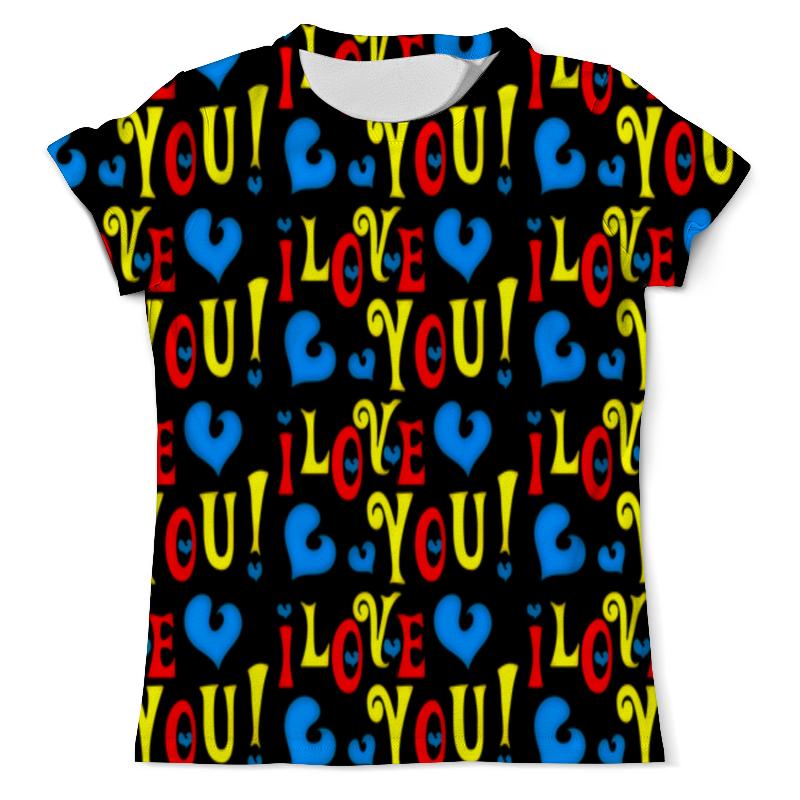 Футболка с полной запечаткой Printio I love you футболка с полной запечаткой для девочек printio i want you for nova corps