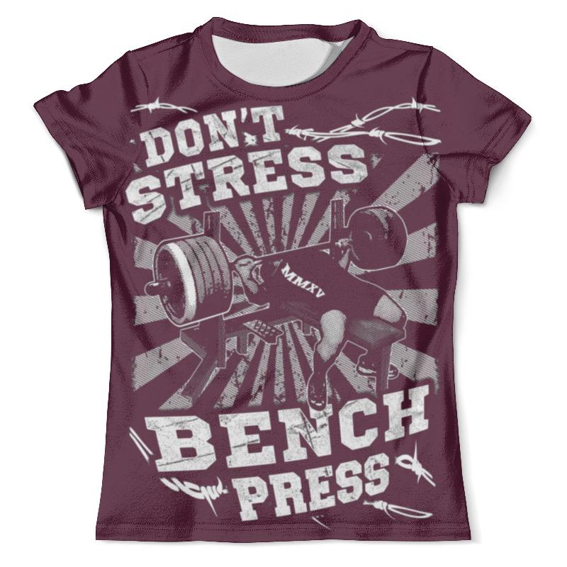 Футболка с полной запечаткой (мужская) Printio Bench press футболка стрэйч printio bench press