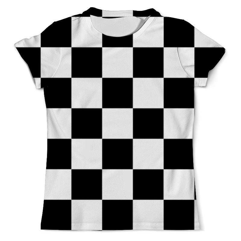 Printio Чёрно-белая клетка футболка белая мужская без рисунка