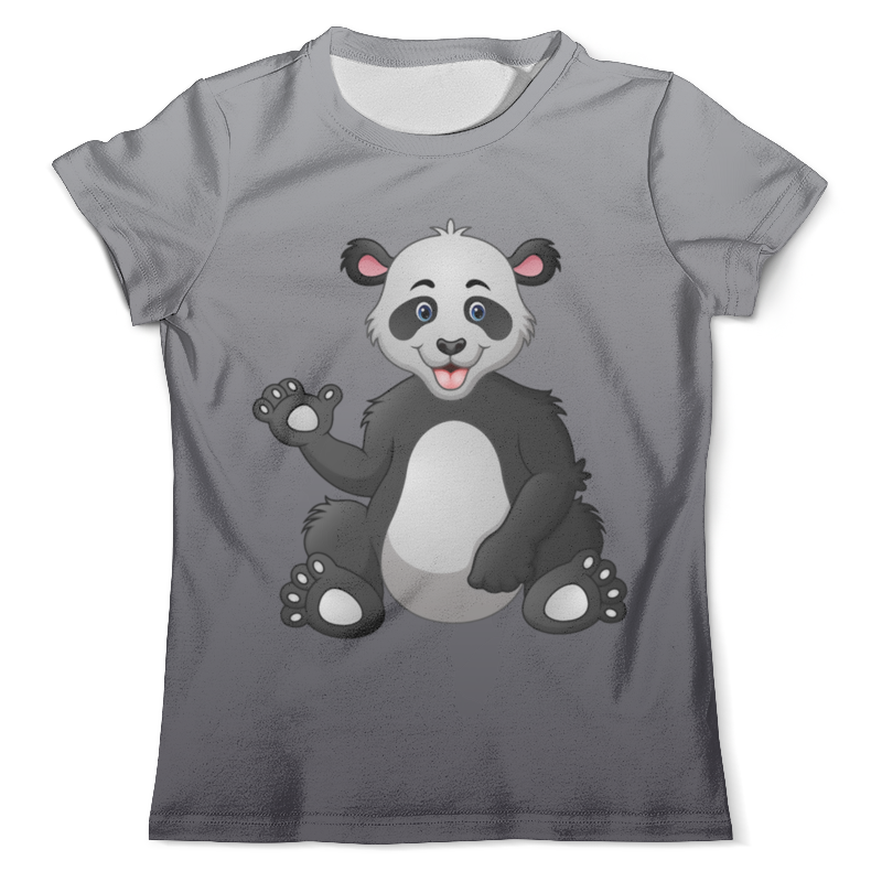 Футболка с полной запечаткой (мужская) Printio Привет,я панда горбачёнок екатерина привет я мишутка