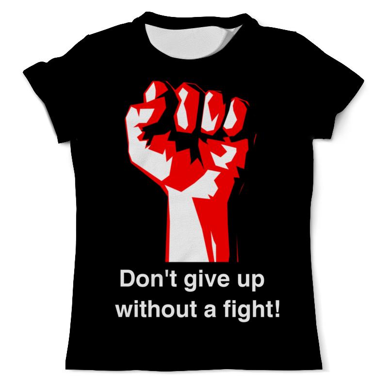 Футболка с полной запечаткой (мужская) Printio Don't give up without a fight. бойцовский клуб
