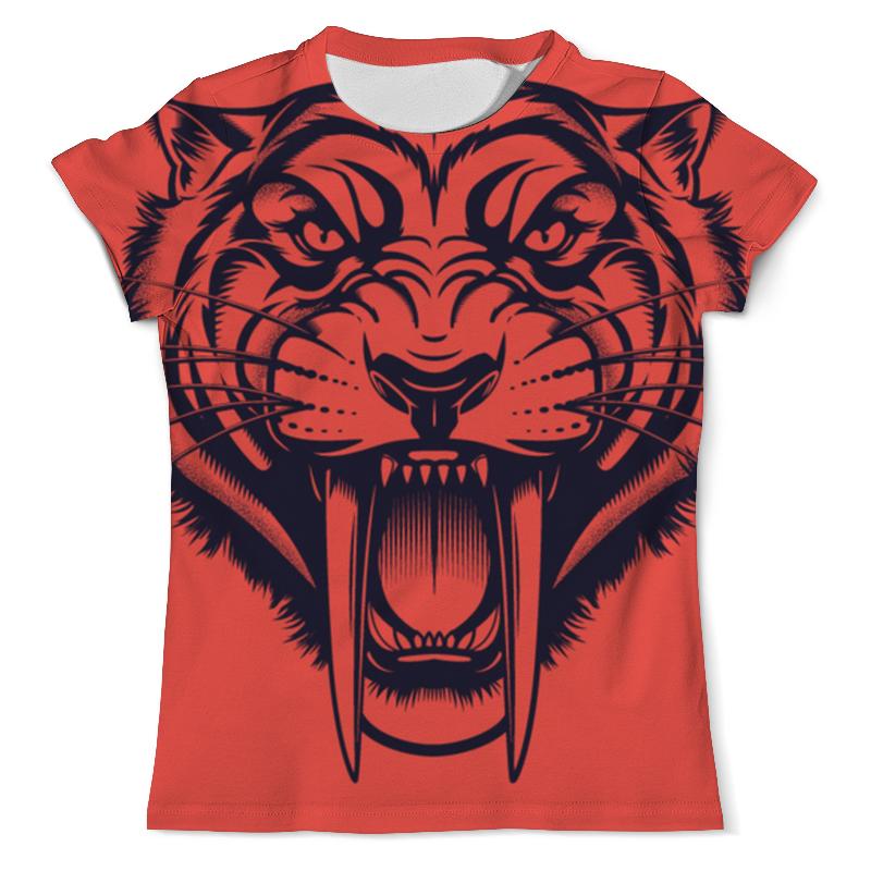 Printio Саблезубый тигр футболка с полной запечаткой мужская printio тигра