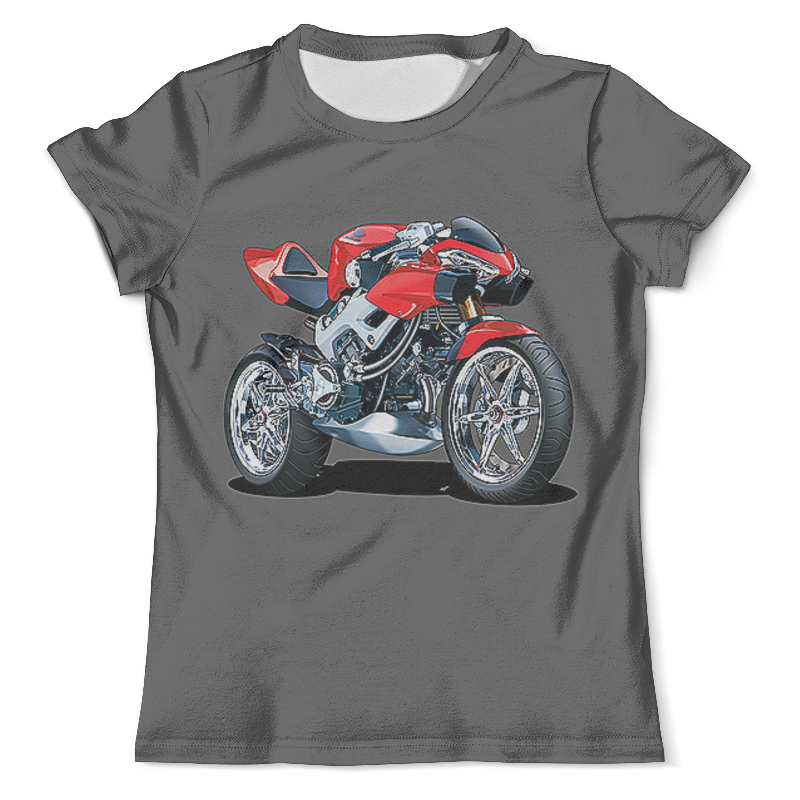 Футболка с полной запечаткой (мужская) Printio Honda moto 35mm 51mm motorcycle exhaust pipe moto escape muffler pipe for honda pcx125 grom cbr250r cbr300r cb300f fa cbr500r cb500f x ktm