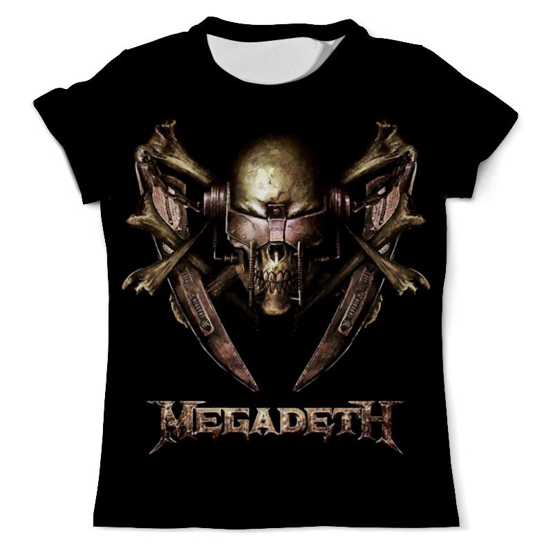 купить Футболка с полной запечаткой (мужская) Printio Megadeth band недорого