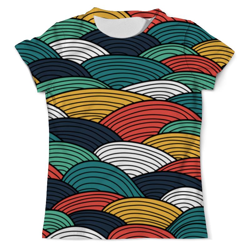 Футболка с полной запечаткой (мужская) Printio Цветные волны футболка с полной запечаткой мужская printio цветные текстуры