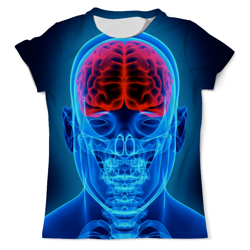 Футболка с полной запечаткой (мужская) Printio X-ray skull футболка с полной запечаткой мужская printio x ray vet