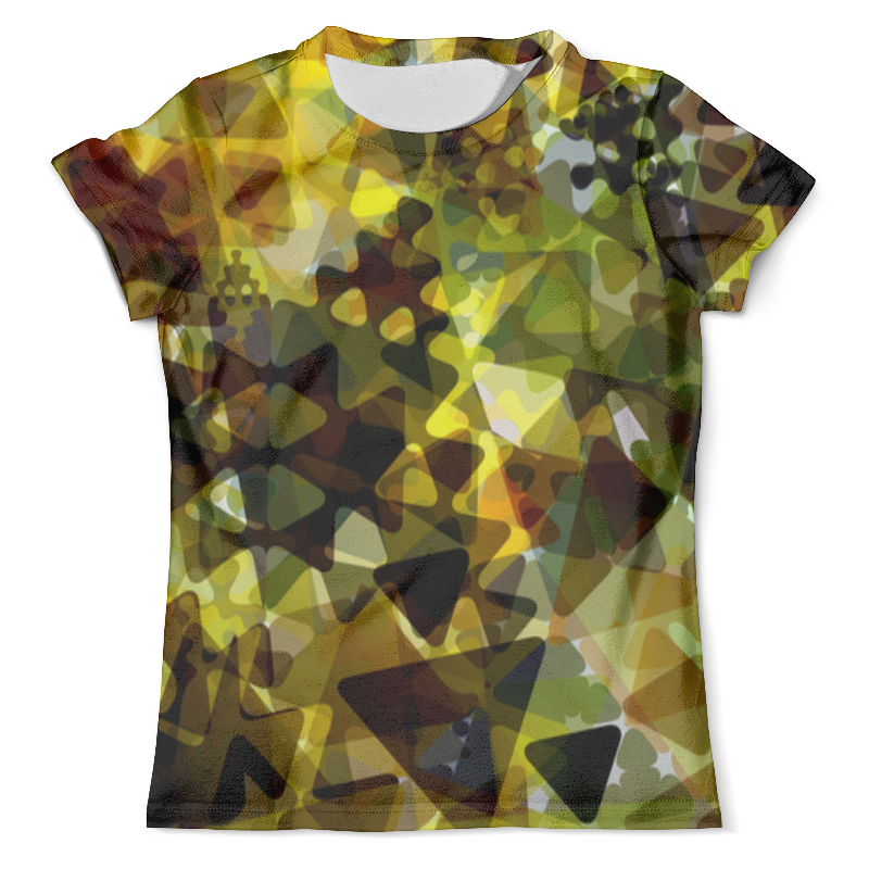 Футболка с полной запечаткой (мужская) Printio Треугольники хаки футболка цвета хаки
