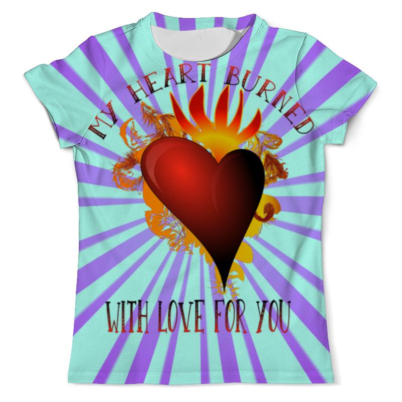 Футболка с полной запечаткой (мужская) Printio My heart цены онлайн