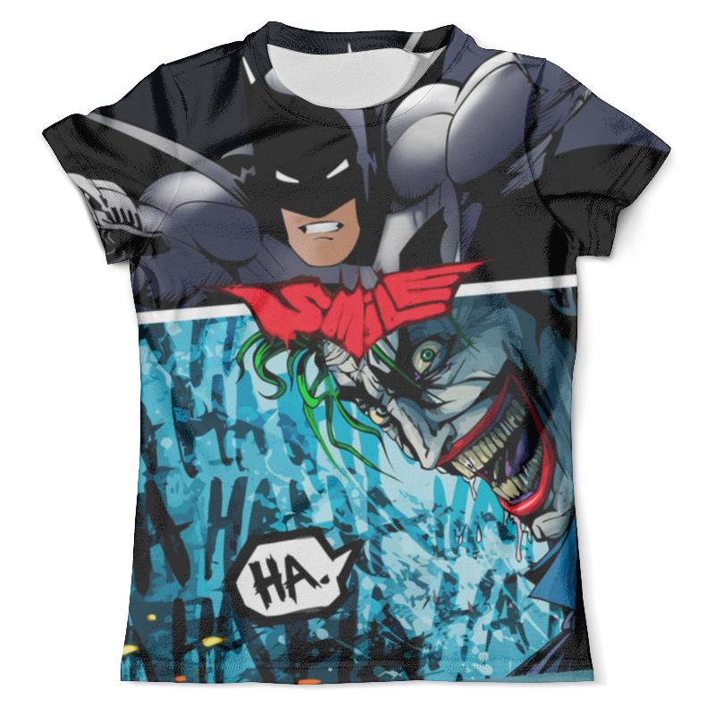 Футболка с полной запечаткой (мужская) Printio Smile (batman vs. joker) футболка с полной запечаткой для девочек printio smile batman vs joker