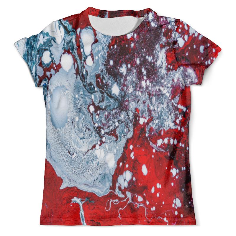 Футболка с полной запечаткой (мужская) Printio Красно-белые краски футболка print bar белые мотыльки