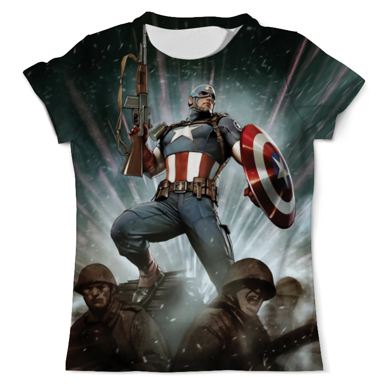 Футболка с полной запечаткой (мужская) Printio Astonishing captain america jamiroquai jamiroquai the return of the space cowboy 2 lp 180 gr