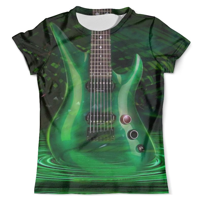 Футболка с полной запечаткой (мужская) Printio Green guitar acoustic electric concert ukulele 23 inch hawaiian guitar 4 strings ukelele guitarra mahogany handcraft green black musical uke