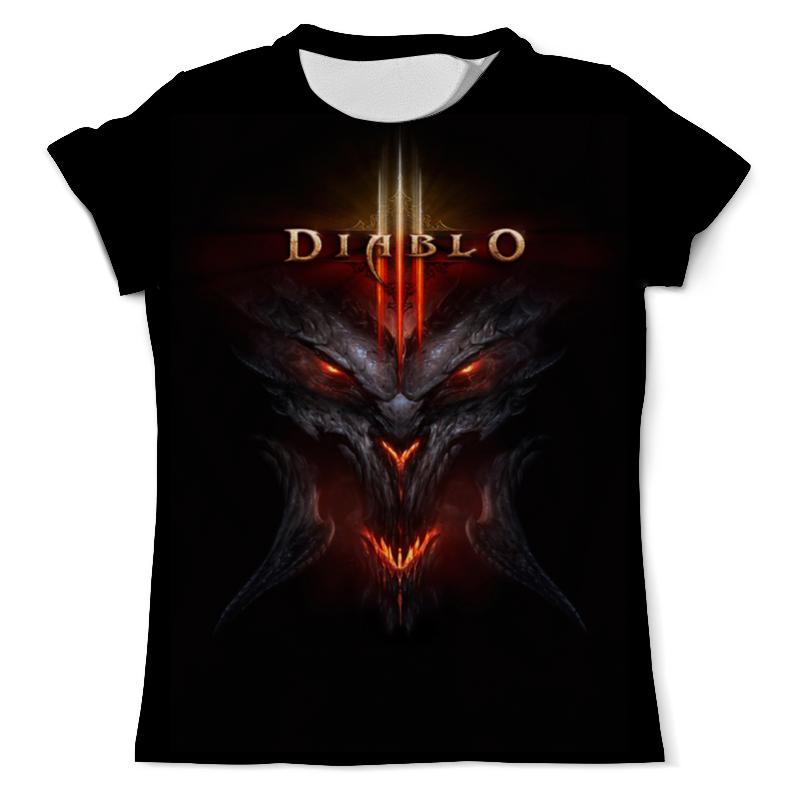 Футболка с полной запечаткой (мужская) Printio Diablo / диабло футболка с полной запечаткой для девочек printio diablo диабло