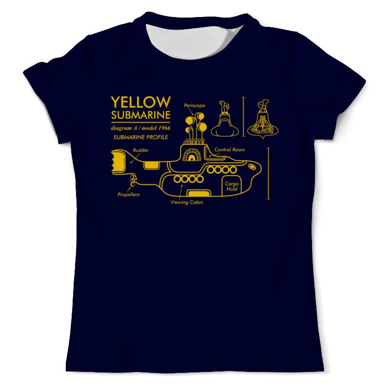 Футболка с полной запечаткой (мужская) Printio Yellow submarine цена и фото
