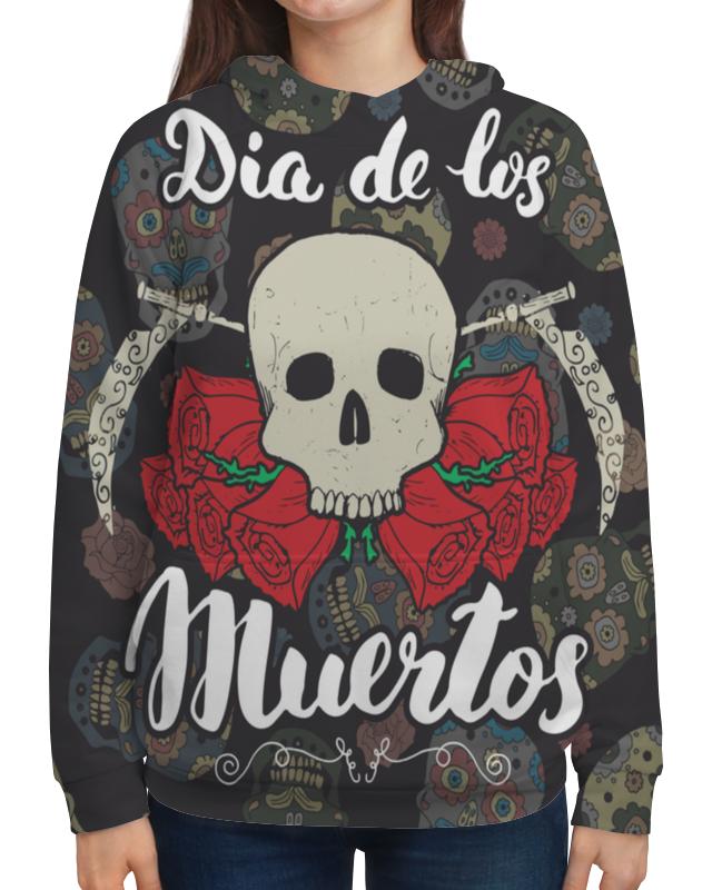 Толстовка с полной запечаткой Printio Día de muertos festival bue día 2 gorillaz