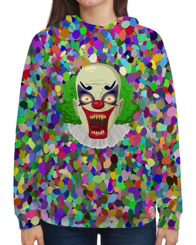 Толстовка с полной запечаткой Printio Клоун свитшот унисекс с полной запечаткой printio клоун