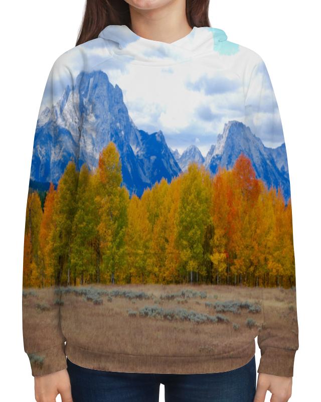 Толстовка с полной запечаткой Printio Деревья в горах толстовка с полной запечаткой printio елки в горах