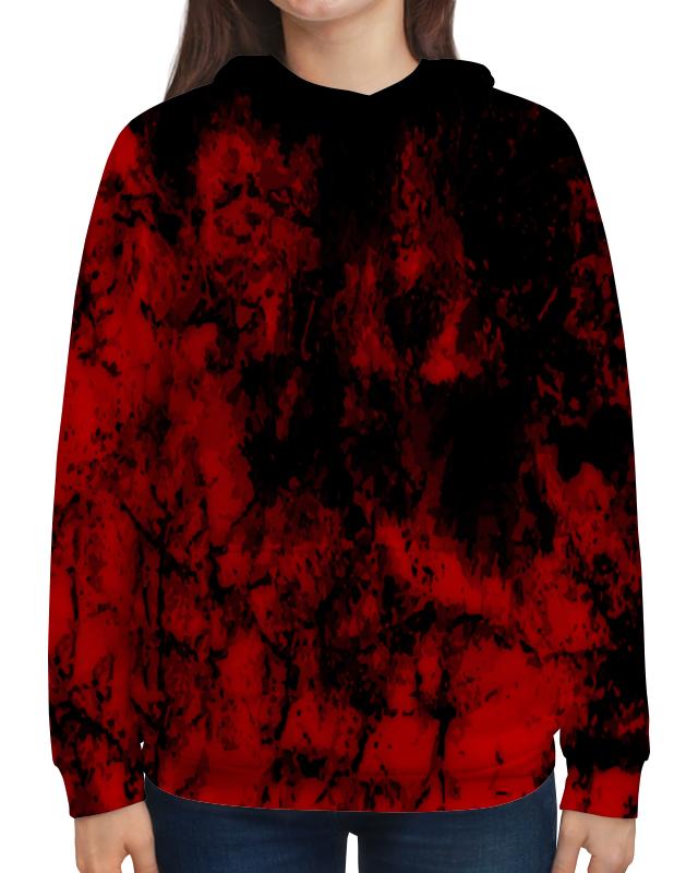 Толстовка с полной запечаткой Printio Черно-красный