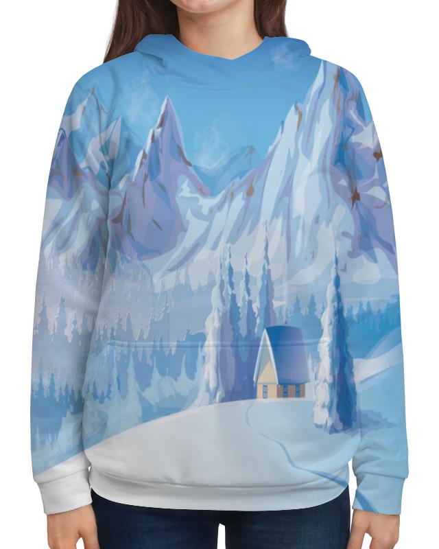 Толстовка с полной запечаткой Printio Зимний пейзаж рюкзак мешок с полной запечаткой printio зимний пейзаж