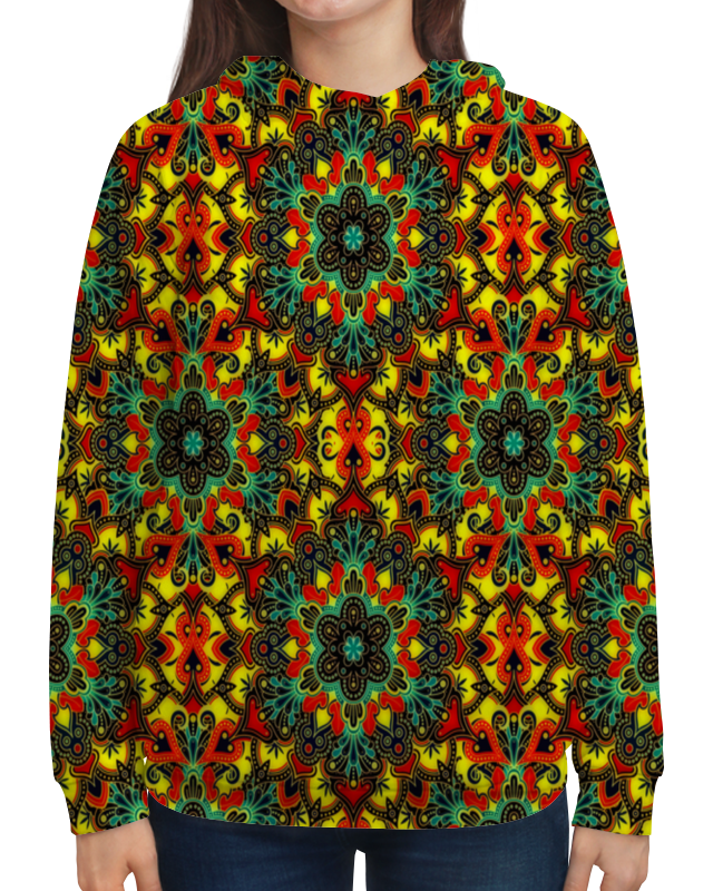 Толстовка с полной запечаткой Printio Цветная мозаика