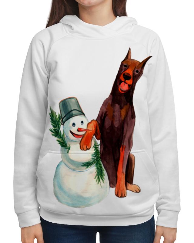 Толстовка с полной запечаткой Printio Забавная акварельная собака, символ 2018 года футболка классическая printio акварельная новогодняя забавная собака