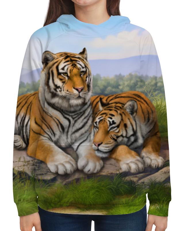 Толстовка с полной запечаткой Printio Тигры гиря titan 16кг