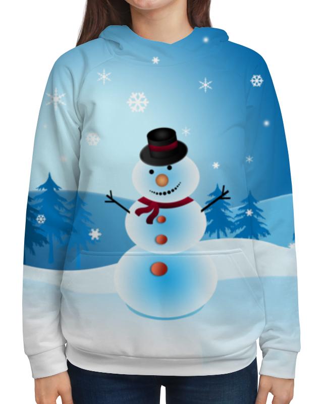 Толстовка с полной запечаткой Printio Снеговик новогодний сувенир luazon снеговик с лопатой white 676330