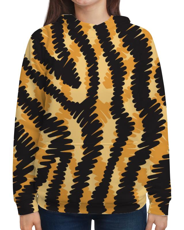Толстовка с полной запечаткой Printio Тигровый тигровый орех купить в москве