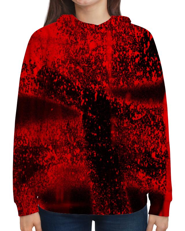 Толстовка с полной запечаткой Printio Красные брызги толстовка с полной запечаткой printio брызги