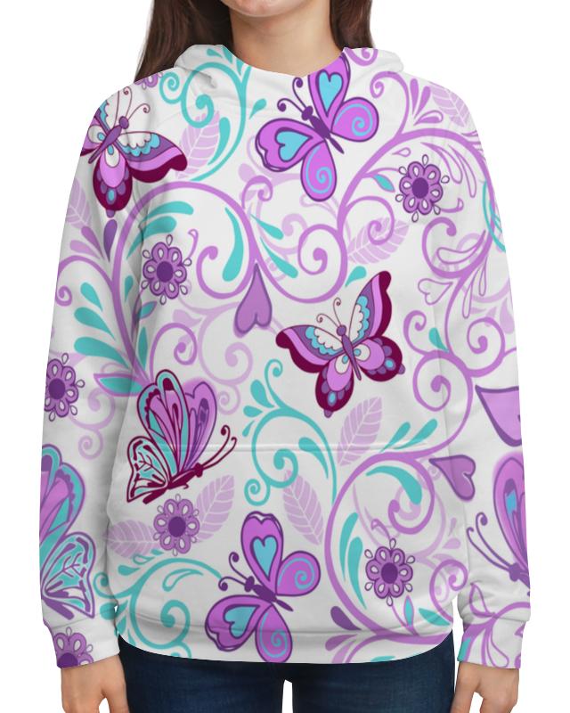Толстовка с полной запечаткой Printio Цветные бабочки толстовка с полной запечаткой printio бабочки
