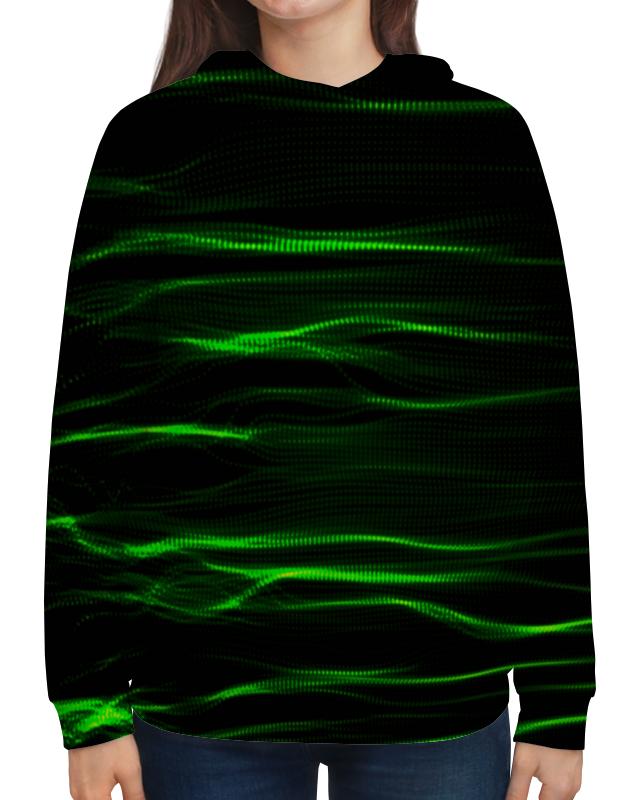 Толстовка с полной запечаткой Printio Зеленые линии юбка в складку printio зеленые линии