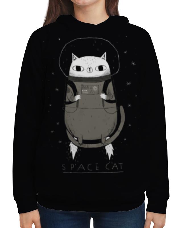 Толстовка с полной запечаткой Printio Space cat майка print bar space cat