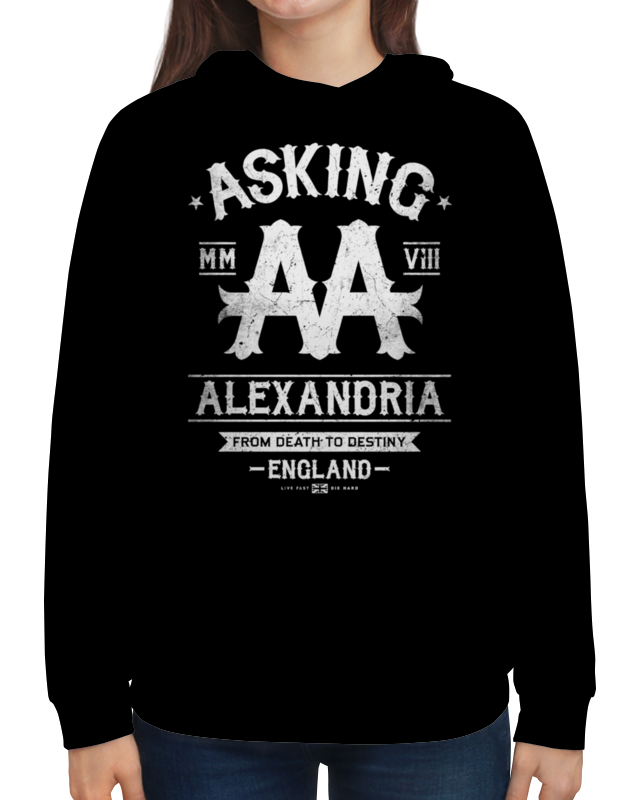 Толстовка с полной запечаткой Printio Asking alexandria футболка с полной запечаткой для мальчиков printio asking alexandria the black