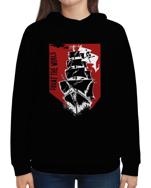Толстовка с полной запечаткой Printio Пиратский корабль александра треффер под пиратским флагом фантазии натему произведений р сабатини
